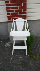 Vintage white high chair