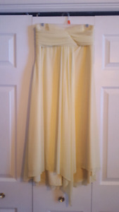 Women's Size 10/12 Pullover Strapless Knee Length Formal Gown