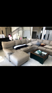 L shaped Natuzzi Sectional Sofa