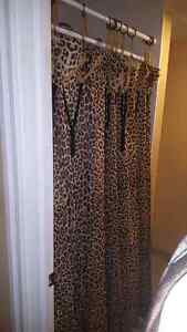 Leopard Shower Curtain. Hand Made
