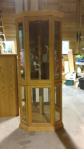 Oak display cabinet