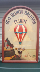 Vintage hot air balloon collectible 3D wall sign