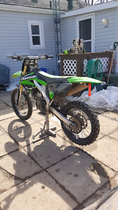 Kxf 250 with riding gear