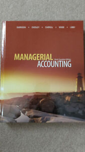 Managerial Accounting 9th Canadian Edition