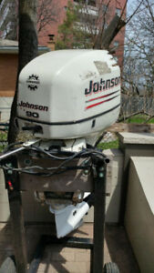 90 HP Johnson outboard motor