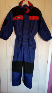 Columbia red and blue snowsuit size 6/7