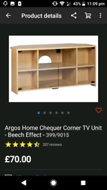 Chequer Corner TV Cabinet only £40. Real Bargains Clearance Outlet Lei