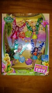 Disney Fairies Palm Tree Cove Tropical Party 4 Pack Tink Rosetta
