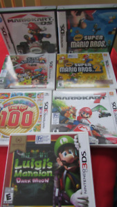 Mario games for Nintendo DS and 3DS consoles (15-25$)