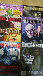 RUE MORGE AND HORROR HOUND MAGAZINES