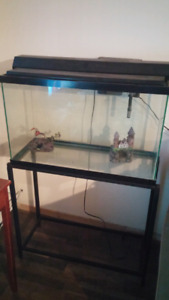 30 gallon fish/reptile tank and stand