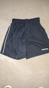 NEW 27 PAIRS OF ADULT LARGE BLACK SOCCER SHORTS