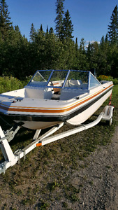 Boat, motor and trailer. 16ft with 50 mercury