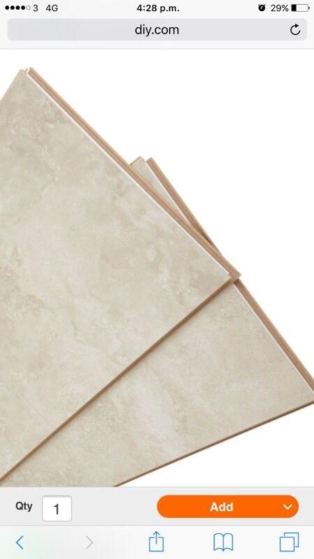 Quickstep Tila Cream Tavertine Effect Laminate Floor In