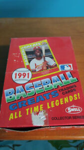 Swell Baseball Greats Cards (1991) (40 sealed packs in box)