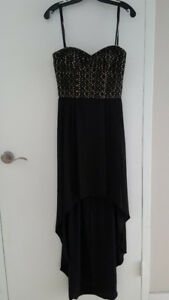 Gorgeous BCBG Black Strapless High-Low Dress Size 4
