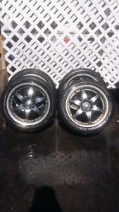 """4 17"""" Icon Aluminum  Rims/Tires (205/50R17)"""