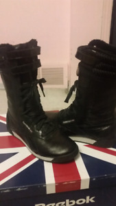 Reebok Freestyle Black Boots (women's size 8 - fits 7.5)