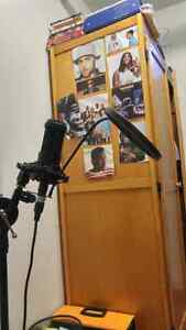 Audio technica Mic + Stand + cables + M-Audio