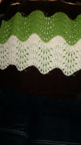 CROCHETED LAP BLANKET OR BED COVER FOR TWIN BED