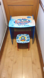 Thomas the Tank engine child play table and stool