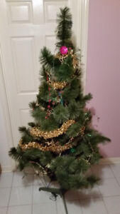 Artificial Christmas Tree with Lights & Ornaments