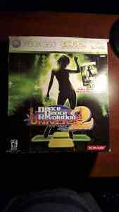 XBOX 360 - Dance Dance Revolution Mat Controller and box