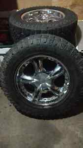 "4 GOODYEAR WRANGLER 20"" with 6Bolt GMC rims"