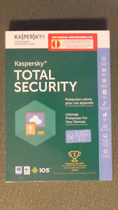Kaspersky Total Security.  Good for  3  devices for  1 year.