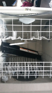 Upper and lower rack from Frigidaire Gallery dishwasher