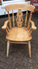 WOODEN SOLID STURDY CHAIR