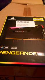 Corsair Ram 3885, Vengeance RGB, 16 GB (2 x 8GB) 3600 MHZ