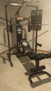 Home Gym Equipment - York 3000 with Weights and Accesories