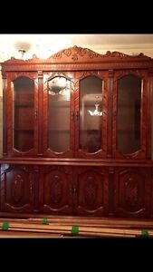 2 piece dining set (hutch and china cabinet)