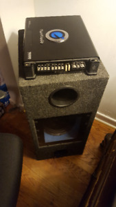 """Planet Audio 4 Channel Amplifier + Capacitor & 2 10"""" Subwoofers"""