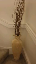 large vintage cream vase