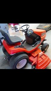 KUBOTA tractor with attachments