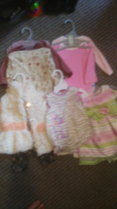 Baby girl clothing lot (0-3 & 3-6) 15$