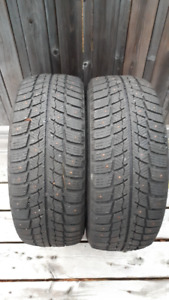 Two winter studded tires 7/32 tread
