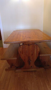 Indoor picnic table and chairs