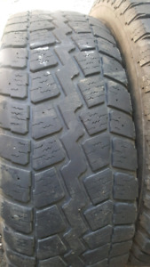 1 - 245 70 R 17 tire $10 and 1 - 265 65 R 18 $10