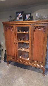 Antique China Cabinet and side piece