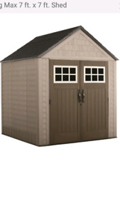 Rubbermail 7'x7' storage shed