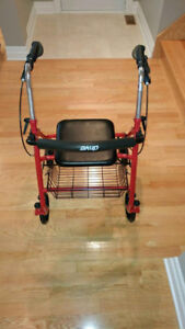 DRIVE MEDICAL LIGHTWEIGHT WALKER W/REMOVABLE BACK SUPPORT