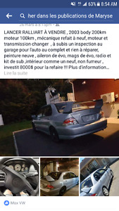2004 Mitsubishi Lancer Ralliart Berline