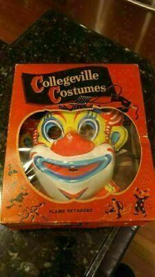 Vintage Collegeville Halloween Clown #200 Costume Complete w/Box Child Small 4-6