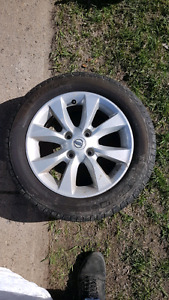 Nissan 17 inch rims and tires