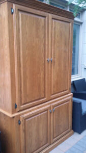 Handmade Cabinet - Solid Wood,Not IKEA, Armoir,Hutch- $900 Value