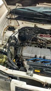 1991 Mazda Protege Blue Sedan,