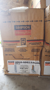 Simpson Strong Tie HDU8-SDS2.5 - Box of 6 - with screws. **NEW**